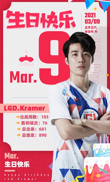《【煜星娱乐平台首页】LGD选手Kramer迎来25岁生日》